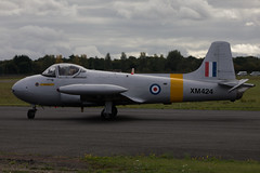 XM424:G-BWDS - Hunting P-84 Jet Provost T3A (Ronnie Macdonald) Tags: ronmacphotos northweald jetfest jetprovost xm424 gbwds