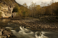 Into Wilderness (thor_thomsen) Tags: landscape norway color stream river rocks mountain forest fall autumn flow motionblur scenic wilderness