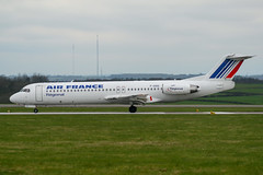 Air France Regional - Fokker 100 F-GIOG @ Cardiff (Shaun Grist) Tags: fgiog af airfrance regional fokker fokker100 f100 shaungrist cwl egff cardiff cardiffairport cardiffrhoose rhoose wales airport aircraft aviation aeroplanes airline avgeek