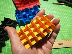 Cubic lattice tessellation (ISO_rigami) Tags: origami tessellation