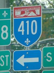 Quebec Autoroute 410 (Quevillon) Tags: lennoxville quebecautoroute410 410 quebecautoroute thoroughfareshield cantonsdelest estrie easterntownships sherbrooke canada québec