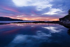 Mirrored sunrise    Malabar Rock Pool  {Explore 137, 2019/10/01} (David Marriott - Sydney) Tags: malabar newsouthwales australia new rock pool ocean long bay randwick golf club mirror sunrise dawn reflection