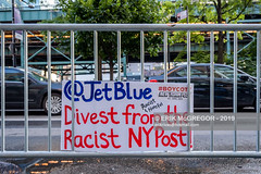 EM-191001-BoycottNYPost-003 (Minister Erik McGregor) Tags: action american activism association americaiswatching nyc newyork peaceful jetblue frontpage directaction merchant peacefulprotest nypost bannerdrop islamophobic peacefulresistance erikmcgregor ilhanomar boycottnypost street usa advertising photography protest solidarity banners activists boycott yama yemeni stopthehate advertisers riseandresist news newspaper manhattan rally crowd streetphotography photojournalism content business demonstration campaign racism racist protesters disruption erikrivashotmailcom 9172258963 ©erikmcgregor