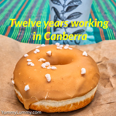 Caramel doughnut (garydlum) Tags: canberra australiancapitalterritory australia