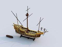 Carrack styrbord.lxf (anders.thuesen) Tags: carrack caravela nau nao neef kraak 15th century medieval renaissance santa maria columbus spanish portuguese lego