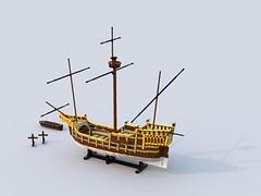 Carrack bagbord.lxf (anders.thuesen) Tags: carrack caravela nau nao neef kraak 15th century medieval renaissance santa maria columbus spanish portuguese lego
