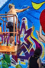 Artist at Work (Kool Cats Photography over 12 Million Views) Tags: oktraveltakeover route66 luminar abstract abstractart artistic art fineart graphicarts graffitti grafitti oklahoma outdoors photographicart photography ricohgrii streetphotography streetart wallart wall