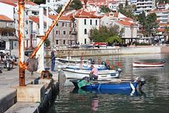 The Fisherman - Petrovac, Montenegro (russ david) Tags: petrovac montenegro montenegró boats na moru петровац на мору castellastua coast adriatic sea architecture travel balkans november 2018 црна гора crna gora fisherman boat balkin