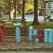 wooden-block playground