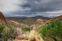 A Special Place (BlueSky RedRocks GMZ71) Tags: hiking exploring adventure utah mesatop redrocks southwest scenery clouds storm