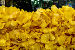 One Of The Many Madrid Temptations (Texaselephant) Tags: madrid chips crisps spain