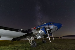 """N28AA, """"Stars and Stripes,"""" Private, Douglas DC-3A, September 2019 (a2md88) Tags:"""