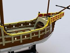 Carrack styrbord skrog for.lxf (anders.thuesen) Tags: nao nau neef caravela carrack santa columbus century maria medieval spanish portuguese 15th renaissance kraak lego