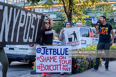 EM-191001-BoycottNYPost-017 (Minister Erik McGregor) Tags: action activism americaiswatching american association bannerdrop boycottnypost directaction erikmcgregor frontpage ilhanomar islamophobic jetblue merchant nyc nypost newyork peaceful peacefulprotest peacefulresistance photography protest riseandresist solidarity stopthehate street usa yama yemeni activists advertisers advertising banners boycott business campaign content crowd demonstration disruption manhattan news newspaper photojournalism protesters racism racist rally streetphotography 9172258963 erikrivashotmailcom ©erikmcgregor
