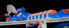 DeepFreezeDiscoverer_ChainSaw (jtooker2) Tags: shiptember ship lego deepfreezediscoverer iceplanet spaceship 2002 2019 moc space chain saw transneon orange