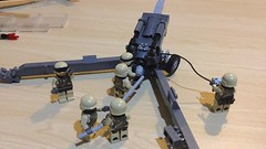 M198 Howitzer (Lonnie.96) Tags: lego brick model custom wip australia victoria 2019 2020 brickvention exhibitor application unsuccessful m198 howitzer artillery usa united states america army defence force marines gun dark grey gray troops soldiers altered brickmania book modified wheel barrel helmet brickarms sticker display military