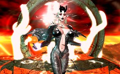 Powerful Demon Magic (beccaprender) Tags: demon demoness fantasy magic evil catwa catya bento maitreya lara mina ysys aii swallow ghoul sweetthing suicidalunborn conviction cx elemental pandemonium