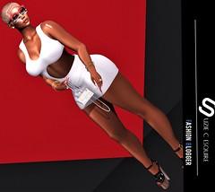 BLOG #352 (Suzie Coba Esquire) Tags: avale dress new release mitzi striped glasses katatonik fashion lady woman style lw elis hairbase phedora heels elspeth blog blogger