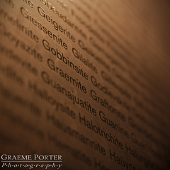 Word Wall - IMG_2890 - Edited (406highlander) Tags: london england canoneos6d tamronsp2470mmf28divcusd naturalhistorymuseum museum exhibit mineral word print text depthoffield bokeh mineralogy earthstreasury canon fullframe