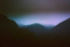 Distant Disappearing (Atmospherics) Tags: dreamy nightsky nightmist twilight lowcloud lowlight atmospherics dusklight twilightcolour mountainlight