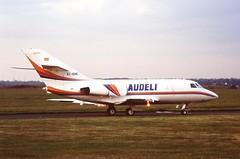 EC-EHC Dassault Falcon 20 Audeli CVT 14-06-95 (cvtperson) Tags: ecehc dassault falcon 20 audeli coventry airport cvt egbe
