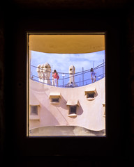 Barcelona; Casa Mila (drasphotography) Tags: barcelona spain architecture casa mila window drasphotography fenster finestra nikon d810 travel travelphotography gaudi outlook frame