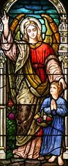 Guardian Angel (Lawrence OP) Tags: saints phoenix angel basilica stainedglass guardian stmarys