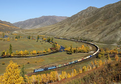 2TE116UM Schatan (Dennis Kraus) Tags: 2te116um mongolei mongolia schatan güterzug freight train