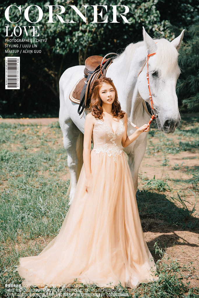 台南自助婚紗|讓你實現一場公主夢的森林白馬婚紗|inBlossom手工訂製婚紗|