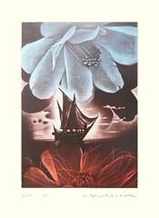 Unknown flower (Japanese Flower and Bird Art) Tags: flower yukio fukazawa modern intaglio print japan japanese art readercollection