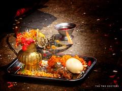 Wedding Puja. (The Two Doctors) Tags: puja swayambhu kathmandu wedding buddhist buddha stilllife