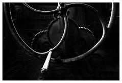 Winch wheel (leo.roos) Tags: winch lier jachtwiel spaakwiel jaagwiel wheel flywheel anchorwinch windlass ankerlier silhouette werfcameerman historischewerfmeerman arnemuiden walcheren zeeland scheepswerf shipyard metal shadow bw schip silhou schaduw donker manu a7rii venusopticslaowa15mmf4widemacro laowa154 darosa leoroos tandwiel cogwheel gear 2019