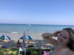 Waving at the Captain (RobW_) Tags: speedboat levante beach freddiesbar tsilivi zakynthos greece monday 16sep2019 september 2019