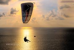 Flight at sunset XOKA7907-3Bs (Phuketian.S) Tags: flight wing paraglider paraplane parachute sea ocean sunset sun sky cloud landscape aerial drone wave golden people man paradise phuket thailand naiharn evening night sport asia asian phuketian