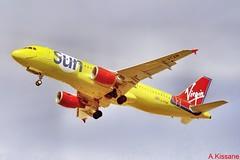 VIRGIN SUN A320 G-VTAN (Adrian.Kissane) Tags: aviation flying flight departing sky outdoors airline airliner jet plane aeroplane aircraft airbus 764 2000 a320 gvtan lanzarote virginsun
