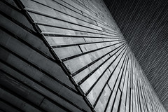 Centraal (s.W.s.) Tags: rotterdam netherlands holland centraal station lines abstract urban city architecture architectural building wood planks nikon lightroom
