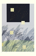 Eulalia grass (Japanese Flower and Bird Art) Tags: flower eulalia grass miscanthus sinensis poaceae junko ozaki modern lithograph print japan japanese art readercollection