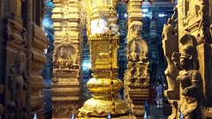 meenakshi amman temple (2) (kexi) Tags: madurai india asia tamilnadu temple blue gold religious old ancient tamil samsung a3 cellular february 2017 sculptures precious meenakshiammantemple instantfave