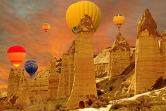 Aşk, Zemi Vadisi(Love Valley) (Talip Çetin) Tags: kapadokya cappadocia göreme aşk vadisi love valley balloons peri bacaları fairy chimneys tour travel gezi tur manzara landspace nature doğa açık hava müzesi openair museum unesco dünya mirası listesi world heritage list nevşehir turkey türkiye türkei turkish turquie anadolu anatolia ürgüp sky skies skyline uçhisar ortahisar çavuşin paşabağ zelve devrent avanos rock formation ancient architecture ruins zemi green yeşil vadi summer holiday tatil honeymoon تركيا 土耳其 turchia トルコ natural park milli ulusal national