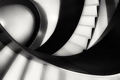 Monochrome Staircase (Andy J Newman) Tags: london monochrome art bandw blackandwhite collection curve euston gallery lowcontrast lowkey mirrorless nikon shape smooth staircase wellcome wellcomecollection z6