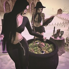 Look 191 Hobby witches (Hypnotic Fashion Blog) Tags: adorsy seniha doux focusposes hair witch halloween blog blogger secondlife sl friends