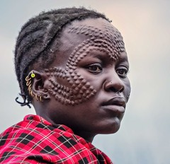 Jie Woman (Rod Waddington) Tags: africa african afrique afrika uganda ugandan jie tribe traditional tribal culture cultural woman scarification face karamoja cluster candid
