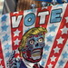 2019 VOTE Poster Times Square NYC with a They Live Touch 3647