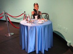 2019 Audrey Hepburn as Holly Golightly in Wax 3833 (Brechtbug) Tags: 2019 brad pitt sidewalk wax display madame tussauds 42nd street midtown manhattan museum nyc 10022019 october sometimes vampire new york city museums public royal uk england brit britain british tussaud s mannequin mannequins dummies dummy interview with