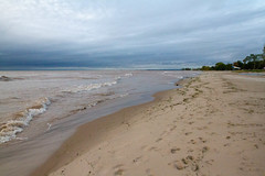 Neshotah Beach (Lester Public Library) Tags: neshotahbeach neshotah neshotahpark sand water lakemichigan lake greatlakes beach beaches morning clouds cloudy sky sun tworiverswisconsin tworivers lesterpubliclibrarytworiverswisconsin readdiscoverconnectenrich