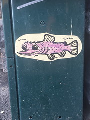Fishy paste-up (svennevenn) Tags: fish pasteups bergen gatekunst streetart