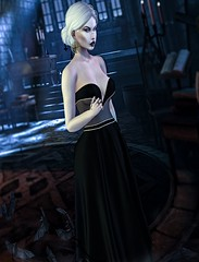 ✞Dead Promises✞ (YanaNIghtwish) Tags: goth second life sl princess dark vampire castle gown naanaas lrd