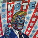 2019 VOTE Poster Times Square NYC with a They Live Touch 3651