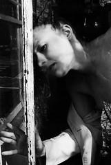 TH1-013-5 (David Swift Photography) Tags: davidswiftphotography tiffanyhelms portraits portraitsofwomen reflection surreal filmportraits 35mm nikonfm2 ilfordxp2