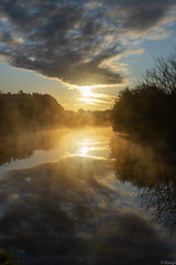 Early morning mist over the Bridgewater Canal, Cheshire, England. (ddzz1000) Tags: 2870 canal sunrise mist bridgewatercanal england cheshire sonya7